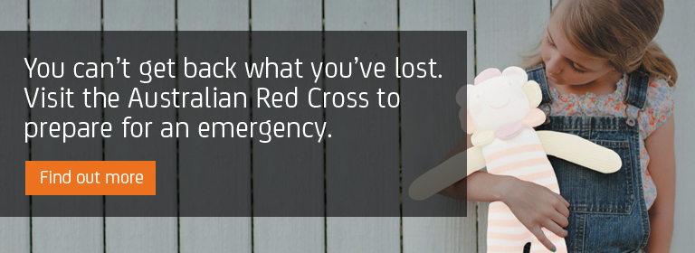Little girl missing a doll - Visit the Australian Red Cross to prepare for an emergency